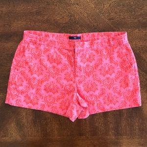 Gap Printed Red Pink Chino Shorts 4